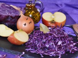 Onions & red cabbage or 2 beneficial winter vegetables