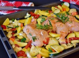 Use Roasted chicken & veggies to cook once and eat 6 times