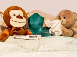 teddy bears sick with colds and flu