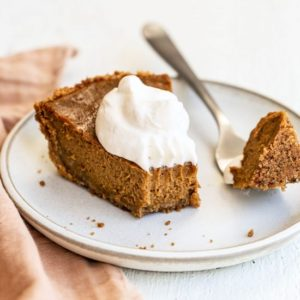 no bake pumpkin pie with cookie crust