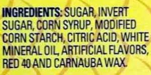 Swedish Fish ingredient list